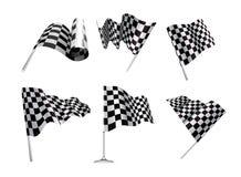 Checkered Markierungsfahnen Stockbild