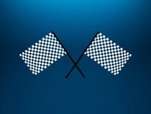 Checkered Markierungsfahnen Stockbilder