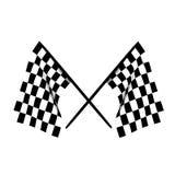 Checkered Markierungsfahnen Lizenzfreies Stockbild