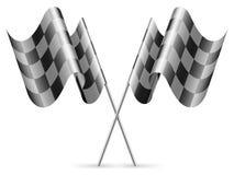 Checkered Markierungsfahnen. Stockfotografie