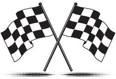 Checkered Markierungsfahnen - erreichte das Ziel Lizenzfreie Stockfotos