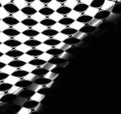 Checkered Markierungsfahnen-Hintergrund Stockfotografie