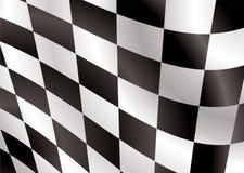 Checkered Markierungsfahnenabdeckstreifen Stockfotos
