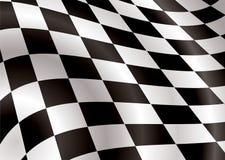 Checkered Markierungsfahnengebrüll Lizenzfreies Stockfoto