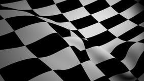 Checkered Markierungsfahnenwellenartig bewegen lizenzfreie abbildung