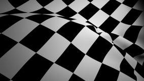 Checkered Markierungsfahnenwellenartig bewegen vektor abbildung