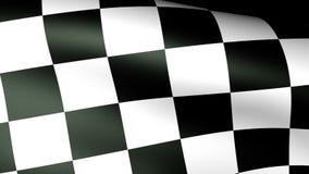 Checkered Markierungsfahnenwellenartig bewegen stock abbildung