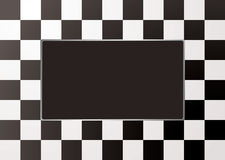 Checkered mono picture frame Stock Photo