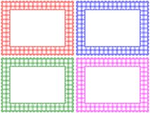 Checkered Muster-Feld-Set Stockfoto