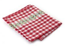 Checkered napkin. On a white background Royalty Free Stock Image