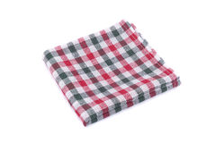 Checkered napkin Stock Images