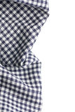 Checkered napkin on white background Stock Image