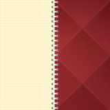 Checkered notebook background Royalty Free Stock Images