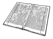 Checkered notebook Stock Image