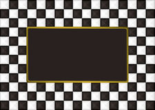 Checkered oblong picture frame Stock Photography