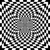 Checkered Optical Illusion. Classic Checkered Optical Illusion pattern in black and white also repeats seamlessly Royalty Free Stock Photo