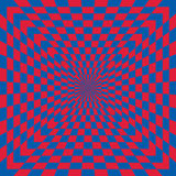 Checkered Optical Illusion Royalty Free Stock Photos