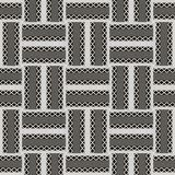 Checkered ornamental geometric vector seamless pattern. Striped vector illustration