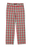 Checkered pants, trews Royalty Free Stock Photos
