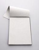 Checkered paper notebook Royalty Free Stock Photos