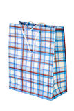 Checkered paper shopping bag Royalty Free Stock Photos