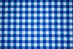 Checkered pattern. White-blue checkered pattern on a fabric Royalty Free Stock Photos