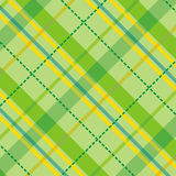 Checkered pattern. Illustration of green geometric checkered pattern Vector Illustration