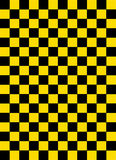 Checkered pattern black and yellow color Stock Photo