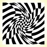 Checkered pattern chess board, checker board with distortion Royalty Free Stock Photos