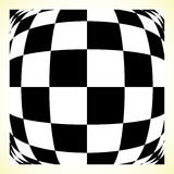 Checkered pattern chess board, checker board with distortion Stock Photography