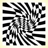 Checkered pattern chess board, checker board with distortion Stock Photos