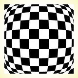 Checkered pattern chess board, checker board with distortion Royalty Free Stock Photo