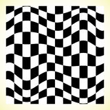 Checkered pattern chess board, checker board with distortion Royalty Free Stock Photography