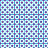 Checkered pattern with circles. Seamless abstract geometrical pattern. Vector illustration Royalty Free Stock Image