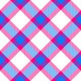 Checkered pattern diagonally oriented seamless tile. Vivid colors checkered pattern diagonally oriented seamless tile Royalty Free Stock Images