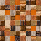 Checkered pattern - different colors - wooden texture Royalty Free Stock Photography
