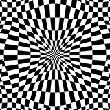 Checkered pattern with distortion effect. Deformed, irregular ch. Essboard, checkerboard background. - Royalty free vector illustration Royalty Free Stock Photography