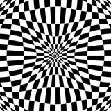 Checkered pattern with distortion effect. Deformed, irregular ch. Essboard, checkerboard background. - Royalty free vector illustration Royalty Free Stock Photos