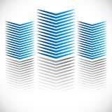 Checkered pattern with distortion effect. Mirrored chequered pattern with distortion effect. Symmetric pattern. Repetitive. - Royalty free vector illustration Royalty Free Stock Image