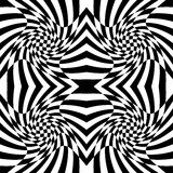 Checkered pattern with distortion effect. Mirrored chequered pattern with distortion effect. Symmetric pattern. Repetitive. - Royalty free vector illustration Stock Photography