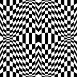 Checkered pattern with distortion effect. Mirrored chequered pattern with distortion effect. Symmetric pattern. Repetitive. - Royalty free vector illustration Royalty Free Stock Photo