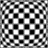 Checkered pattern with distortion effect. Opposite color border Royalty Free Stock Images