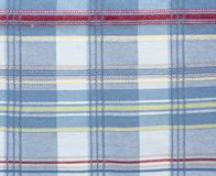 Checkered pattern  fabric textile. Texture color, blue, red cloth background Stock Photography