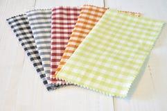 Checkered pattern fabrics Stock Photos