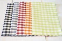 Checkered pattern fabrics Stock Images