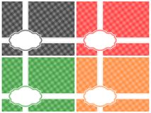 Checkered Pattern Frame Set Stock Photography