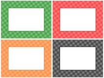 Checkered Pattern Frame Set royalty free illustration