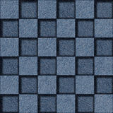 Checkered pattern - seamless pattern - blue jeans cloth Royalty Free Stock Images