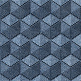 Checkered pattern - seamless pattern - blue jeans texture Stock Photos