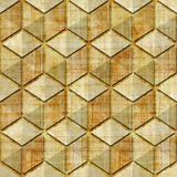 Checkered pattern - seamless pattern - papyrus texture Stock Images